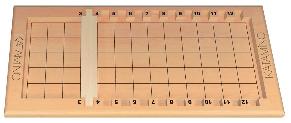 Plateau avec la réglette placer entre le 3 et le 4.